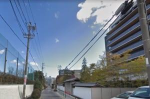 名古屋市東区 サービス付高齢者向け住宅 トラストグレイス白壁 北側道路 西より